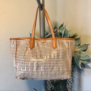Fossil Large PVC and leather trim Tote Bag